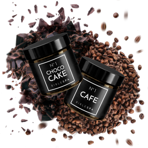 "Here is the real feast for those who are sick with love! The best chocolate and raisins cake face mask and the coffee body scrub! The Song of Songs perfect match! Coffee body peeling and choco cake face mask for those who are ""sick with love"". Bible SPA set that smells so good you want to eat it!"