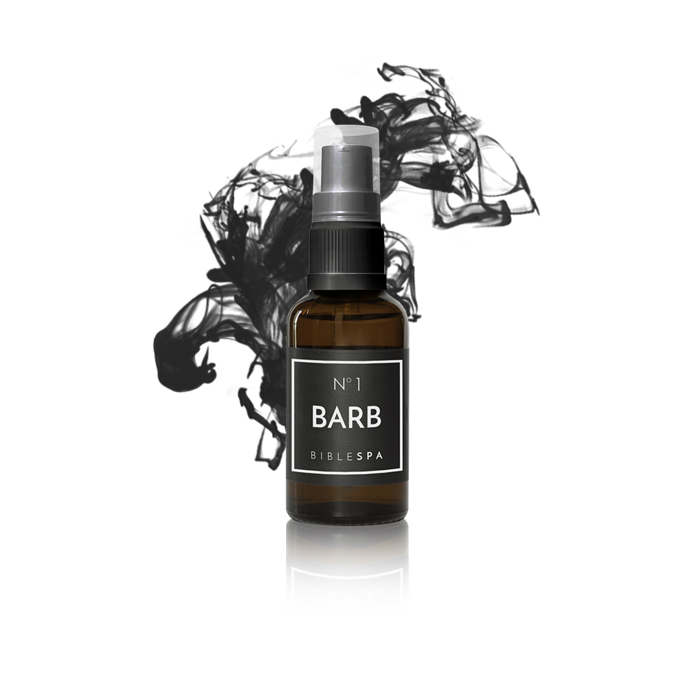 The secret of barbers: jojoba oil for dry and damaged hair. Inspired by the psalm 133. With myrrh, spikenard and sandal wood. Best of Bible SPA